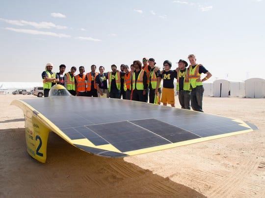 Students and alumni of the University of Michigan Solar