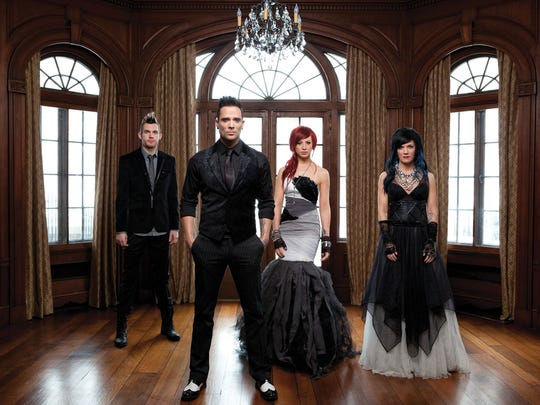 "Christian rock band Skillet is touring in support of its 2013 album ""Rise."""