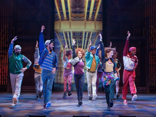 """Karli Dinardo as Alex Owens and company in the national tour of """"Flashdance the Musical,"""" coming to the Fisher Theatre."""