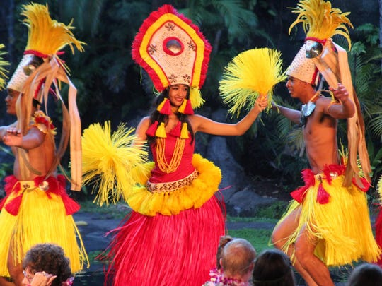 The Polynesian Cultural Center showcases the heritage of the Hawaiian Islands in a luau at Laie, Oahu, Hawaii.