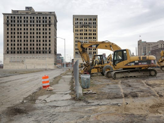 On Monday, March 16, 2015, Ilitch Holdings moved some equipment onto the site of its future arena just north of downtown Detroit in preparation for beginning construction soon.