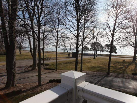 View to Lake St. Clair.