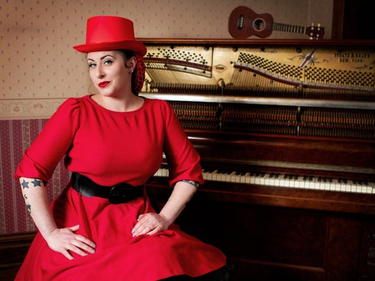 Davina of Davina & The Vagabonds will play Feb. 14, 2015, at Thelma Sadoff Center for the Arts.