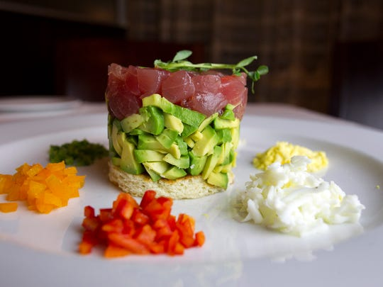 Joseph's Steakhouse's tuna tartare is seen on Monday, Sept. 15, 2014. David Scrivner / Iowa City Press-Citizen