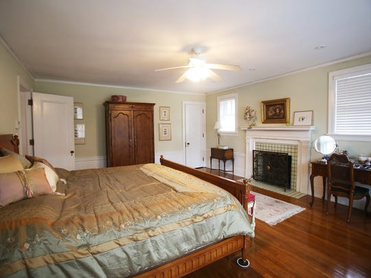 This is the master bedroom with a working gas fireplace of this renovated English colonial style home located at 2924 Iroquois in Detroit's Historic Indian Village. It was built in 1916 and is listed at $475,000. It has seven bedrooms, five bathrooms and is 5,500 square feet.