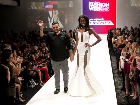 Project Runway reality TV show contestant Michael Costello (left) will be showing his collection as part of Mercedes-Benz Fashion Week on Tuesday evening.