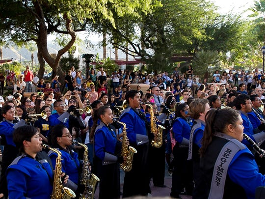 This file photo shows a previous Cathedral City High School homecoming parade. This year's is happening Thursday, Oct. 24, 2019 and will affect Cathedral Canyon Drive.