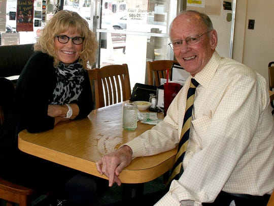 Holly Russo and Dr. Doug Carney stopped by Holding Court at the Court Street Dairy Lunch in downtown Salem on Tuesday to talk about their Weight Management Program. .