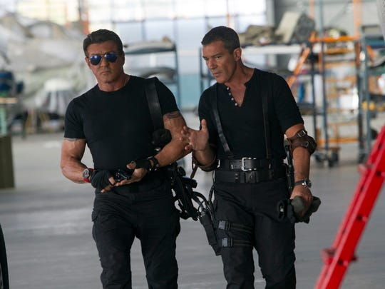 "Sylvester Stallone and Antonio Banderas stars in ""The Expandables 3."""