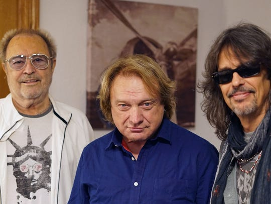 Lou Gramm, center, rejoined Foreigner for a special
