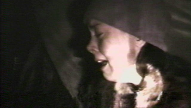 """Heather Donahue in a scene from the motion picture """"The Blair Witch Project."""""""