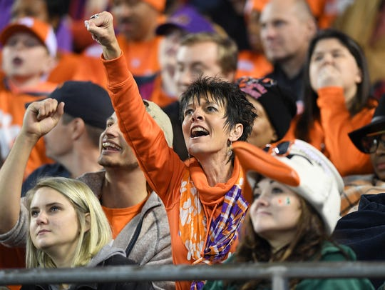 Clemson fans during the 2nd quarter of the ACC championship
