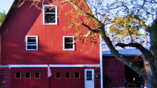 Built in 1875, the main barn at Wayne County-based Ontario Barn Vineyards was renovated in 2010, with help from owner Christopher Staub's family and friends. Provided photo.