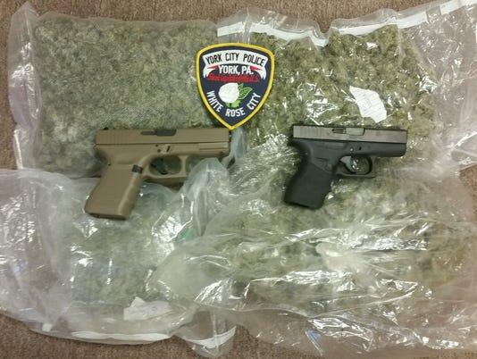 Marijuana and gun bust