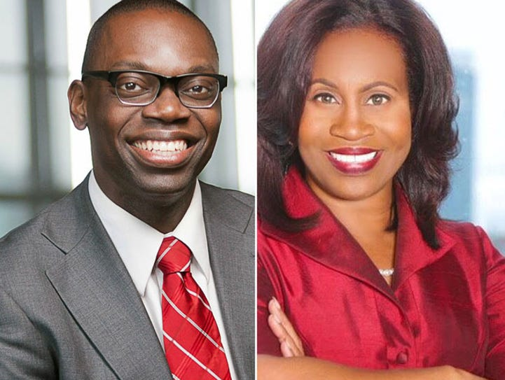 Garlin Gilchrist, left, and Janice Winfrey