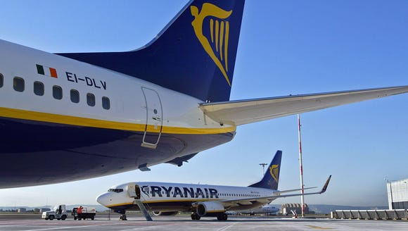 This file photo from Nov. 8, 2006, shows two Ryanair