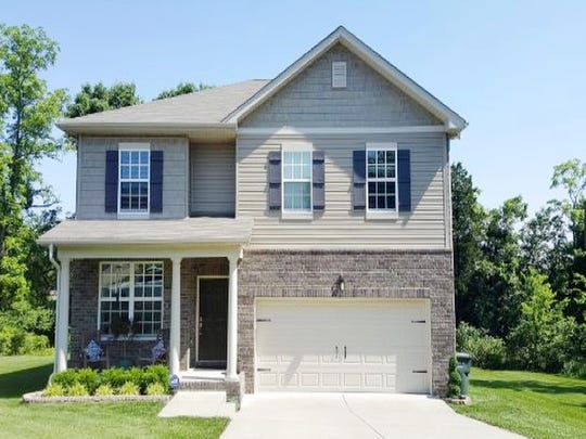 This house, at 1015 Carriage Trail in Mount Juliet, was built in 2012 and has 2,295 square feet.