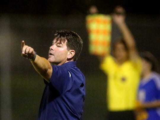 Siegel's keeper head Girls Soccer coach Michael McGoffin