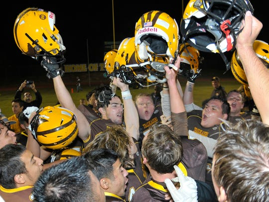 Golden West celebrates after winning the saddle against