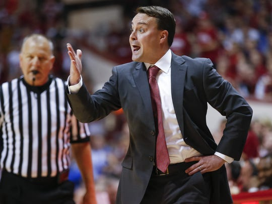Indiana Hoosiers head coach Archie Miller is seen during