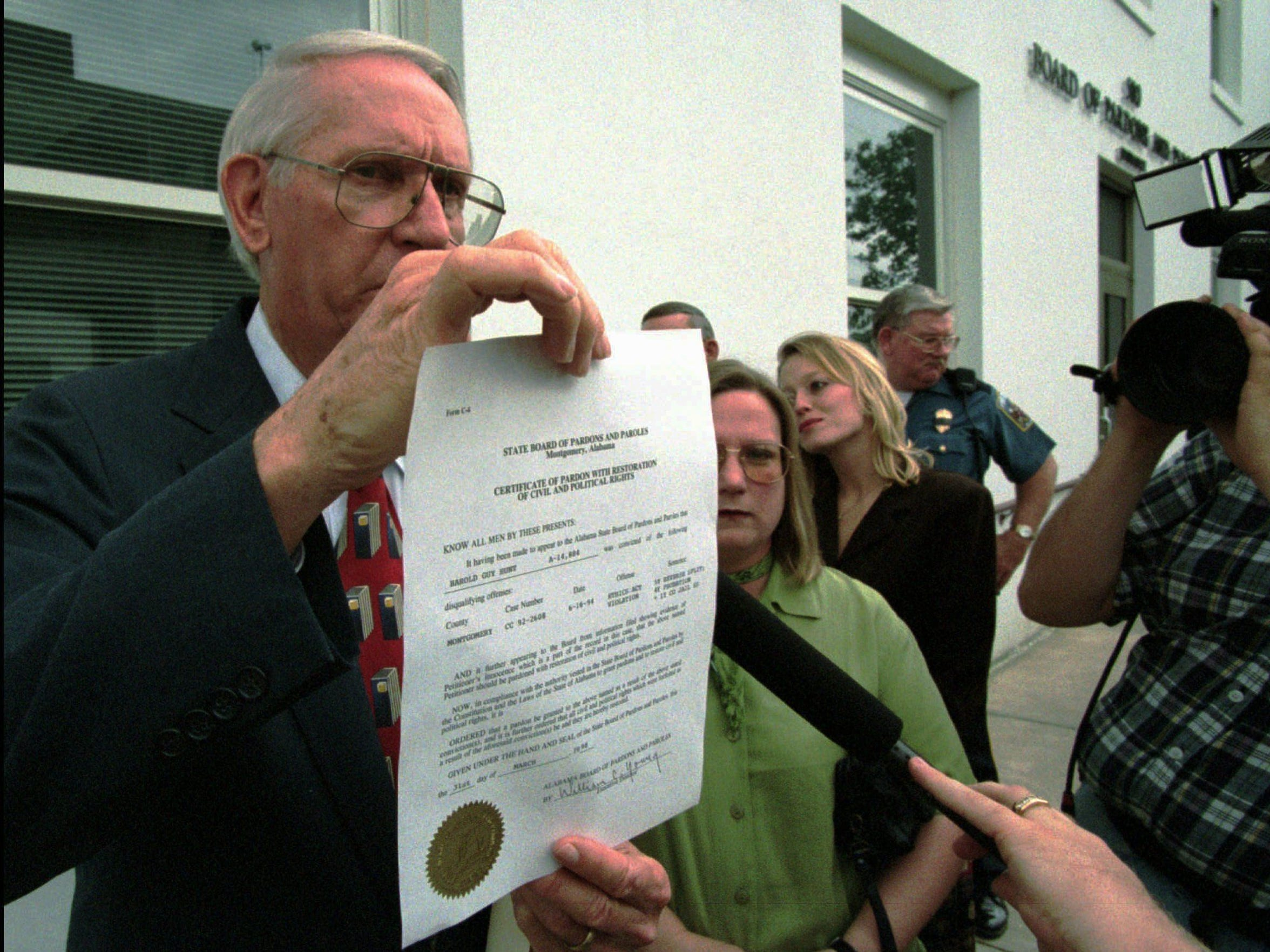 Then-Alabama Gov. Guy Hunt was found guilty in 1993