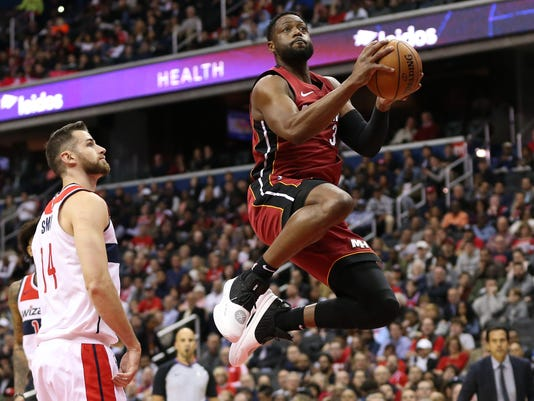USP NBA: MIAMI HEAT AT WASHINGTON WIZARDS S BKN WAS MIA USA DC
