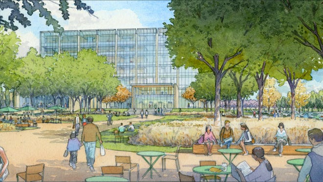 Rendering of proposed Marion County Justice Center in Indianapolis.