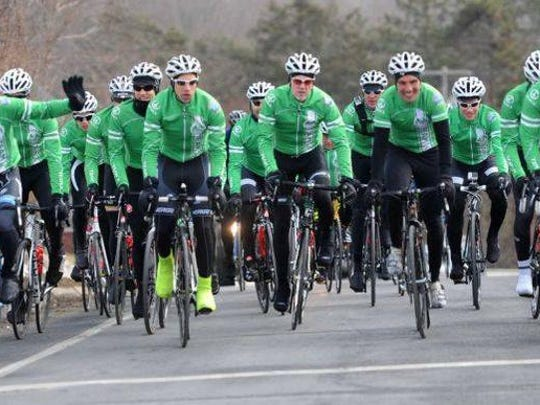 The third annual Sandy Hook Ride on Washington by Team 26, shown last year, will make its first Delaware stop on Monday.