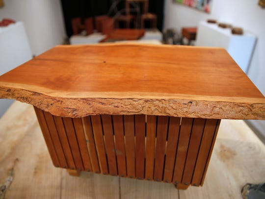 Here is coffee table that Brian Presnell made from