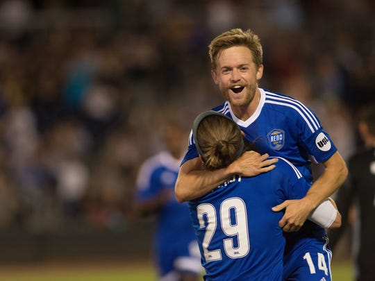 Reno 1868 FC midfielder Chris Wehan was named the United Soccer League Rookie of the Year on Tuesday