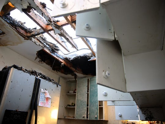 The kitchen of a Keizer home that was destroyed by