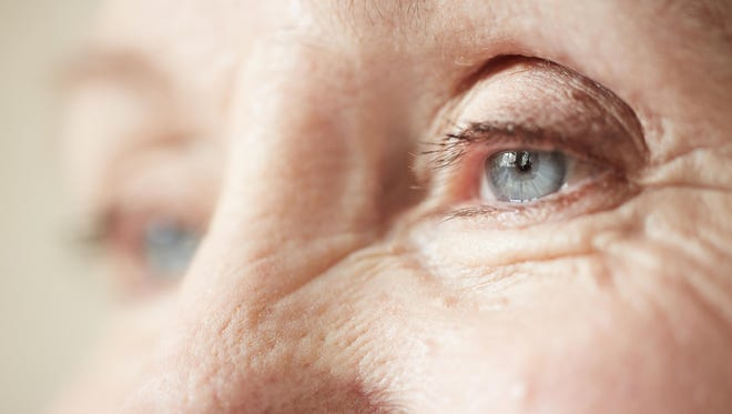 Basal cell carcinoma and squamous cell carcinoma, two of the most common types of skin cancer, can occur on the eyelids.