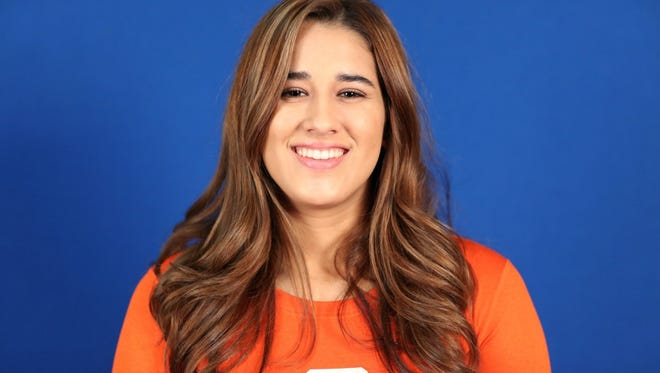 Valerie Vargas is a sophomore setter on the COS women's volleyball team.