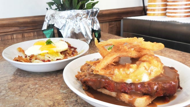 The meatloaf and corned beef hash have become customer favorites at Scott's Diner in New Concord.