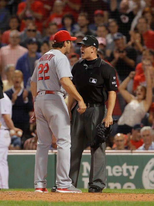 USP MLB: ST. LOUIS CARDINALS AT BOSTON RED SOX S BBA BOS STL USA MA