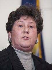 Susan Donegan, commissioner of the Vermont Department of Financial Regulation, speaks during a news conference in Montpelier on Thursday, April 14, 2016, after the Securities and Exchange Commission alleged that Ariel Quiros, owner of the Jay Peak resort and Bill Stenger, president and CEO of Jay Peak, misused more than $200 million of EB-5 immigrant investor funds.