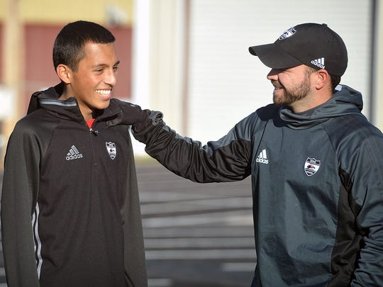 Ramon Gonzalez, left, a student and soccer player at Wichita Falls High School, lost his battle with leukemia in 2018.