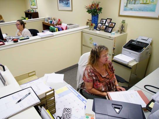 Bonnie Baldwin, a legal secretary for over 34 years