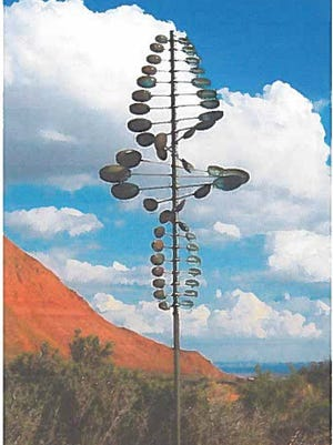 An example of what the Oval Twister sculpture would look like in Lewes.