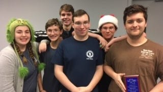 Members of the West Monroe High School Quiz Bowl team (from L to R):  Magi Sumpter, Brian Duke, Connor Wiediemier, Taylor Martin, Grant Martin, and Logan English.