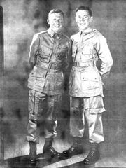 Stanley Kaslikowski, left, with brother Jack in 1942. The brothers served in the U.S. Army as paratroopers in theÊ82nd Airborne Division during World War II. Stanley had three combat jumps and took part in the invasion of Salerno, Anzio, and Holland as well as the Battle of the Bulge.