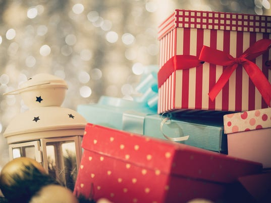 Arrangement of Christmas presents