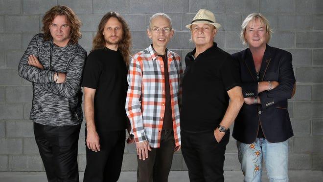 YES (L-R): Billy Sherwood, Jon Davison, Steve Howe, Alan White, Geoff Downes