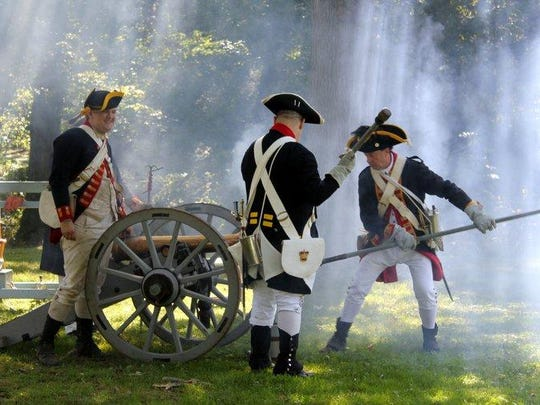 The 243rd Regiment represents the 2nd Pennsylvania Regiment as colonists and the 43rd Regiment of Foot as British soldiers.