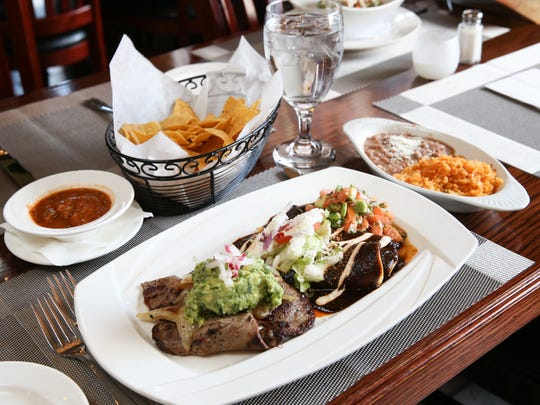 Bistec Tampiqueno on the menu at El Calvario Mexican Restaurant in Yonkers on Thursday, December 14, 2017.