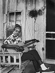 Fort Myers blues historian/photographer George Mitchell shot this image of blueswoman Jessie Mae in 1967 in the Mississippi Hill Country.