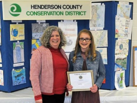 The Overall County Writing Winner, Isabella Payne with her teacher, Elana Stone.