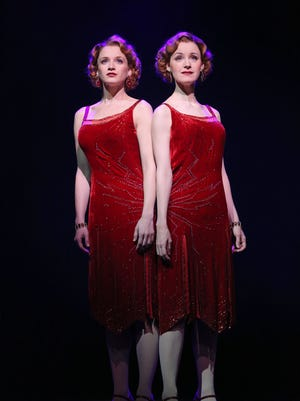 "Emily Padgett and Erin Davie in a scene from ""Side Show,"" a musical currently on Broadway that tells the story of cojoined twins Violet and Daisy Hilton."
