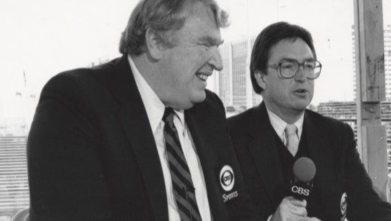 Tim Ryan (right) with iconic sportscaster, football coach and video game pioneer John Madden.