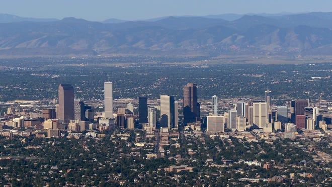 The downtown Denver skyline.